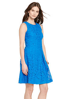Lauren Ralph Lauren Lace Fit-and-Flare Dress