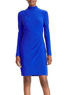 Lauren Ralph Lauren Mock Neck Jersey Dress