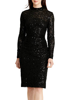 Lauren Ralph Lauren Sequined Lace Sheath Dress