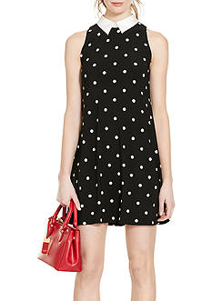Lauren Ralph Lauren Polka-Dot Jersey A-Line Dress