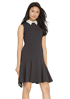 Lauren Ralph Lauren Jacquard Collared Dress