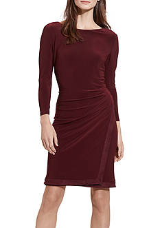Lauren Ralph Lauren Suede-Trim Sheath Dress