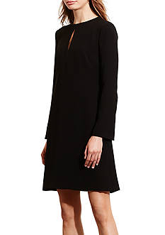 Lauren Ralph Lauren Crepe A-Line Dress