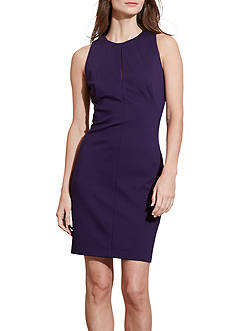 Lauren Ralph Lauren Keyhole Ponte Sheath Dress