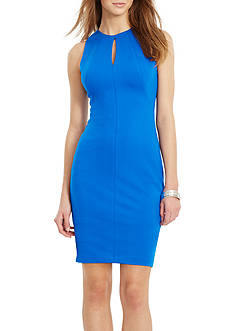 Lauren Ralph Lauren Keyhole Sheath Dress