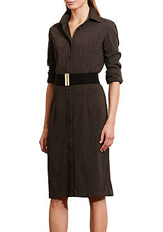 Lauren Ralph Lauren Herringbone Shirt Dress