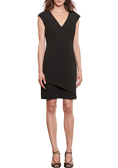 Lauren Ralph Lauren Stretch-Crepe V-Neck Dress