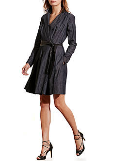 Lauren Ralph Lauren Denim Wrap Dress
