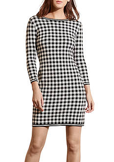 Lauren Ralph Lauren Gingham Cotton Blend Dress
