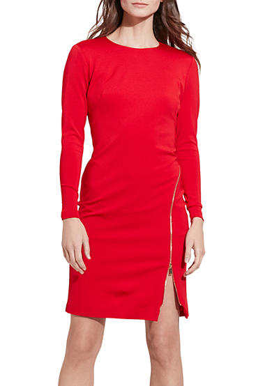 Lauren Ralph Lauren Zip-Detail Sheath Dress