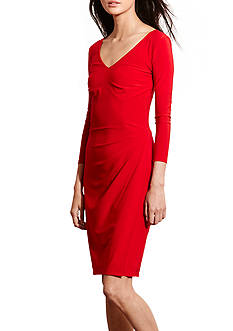 Lauren Ralph Lauren Jersey V-Neck Dress