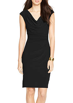 Lauren Ralph Lauren Cowlneck Jersey Dress