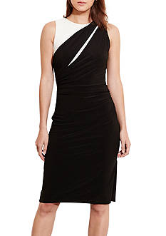 Lauren Ralph Lauren Color-Blocked Jersey Dress