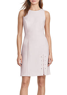 Lauren Ralph Lauren Lace-Up Sheath Dress