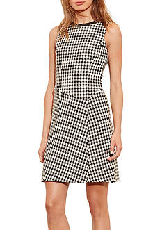 Lauren Ralph Lauren Houndstooth Overlay Dress