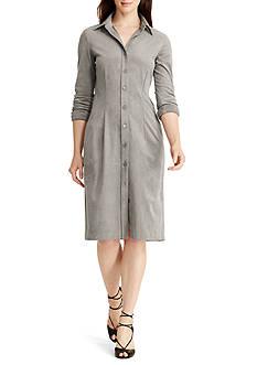 Lauren Ralph Lauren Faux-Suede Shirt Dress