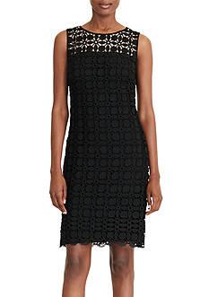 Lauren Ralph Lauren Geometric-Lace Dress