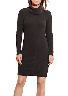 Lauren Ralph Lauren Cotton-Blend Sweater Dress