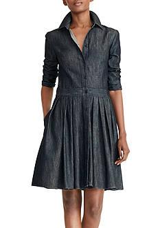 Lauren Ralph Lauren Denim Fit-and-Flare Shirt Dress