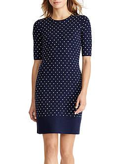 Lauren Ralph Lauren Polka-Dot Sweater Dress
