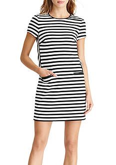 Lauren Ralph Lauren Striped Shift Dress