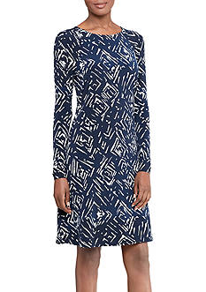 Lauren Ralph Lauren Printed Jersey A-Line Dress