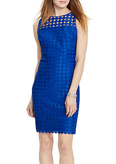 Lauren Ralph Lauren Geometric-Lace Sheath Dress