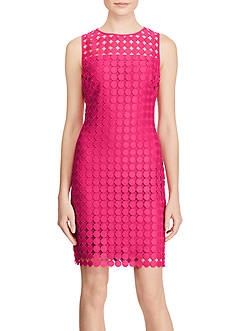 Lauren Ralph Lauren Polka-Dot Lace Dress