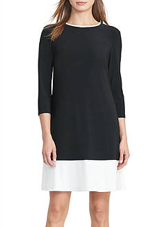 Lauren Ralph Lauren Two-Toned Jersey Dress