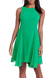 Lauren Ralph Lauren Georgette A-Line Dress