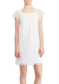 Lauren Ralph Lauren Lace Off-the-Shoulder Dress