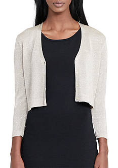 Lauren Ralph Lauren Sheer Metallic Cardigan