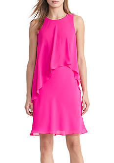 Lauren Ralph Lauren Georgette Overlay Shift Dress