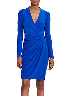 Lauren Ralph Lauren Faux-Wrap Jersey Dress