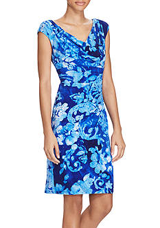 Lauren Ralph Lauren Paisley Print Cowl Neck Dress