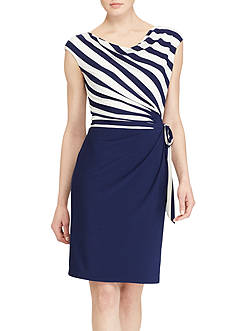Lauren Ralph Lauren Striped Jersey Dress