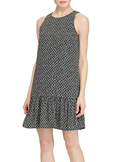 Lauren Ralph Lauren Crepe Drop-Waist Dress