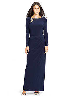 Lauren Ralph Lauren® Beaded Jersey Gown