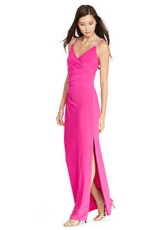 Lauren Ralph Lauren® Pleated Jersey Gown