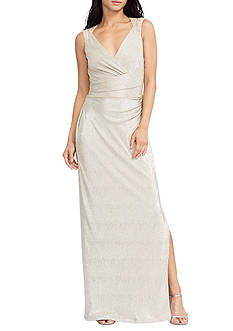 Lauren Ralph Lauren® Metallic Cutout Gown
