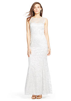 Lauren Ralph Lauren® Sequined-Mesh Gown