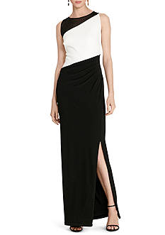 Lauren Ralph Lauren® Color-Blocked Jersey Gown