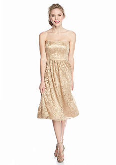 Jessica Simpson Strapless Lace Party Dress