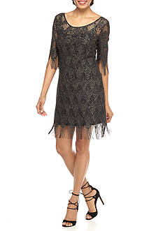 Jessica Simpson Shimmer Fringe Shift Dress