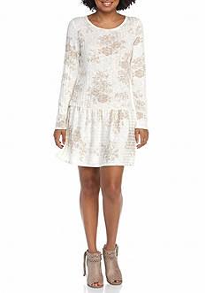 BeBop Print Rib Knit Dress