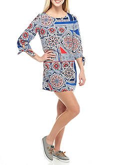 BeBop All Over Patchwork Pattern Dress