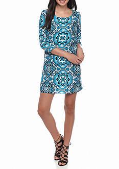 BeBop Printed Shift Dress