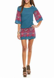 BeBop Border Print Shift Dress