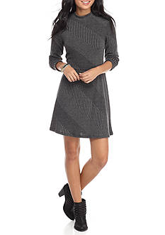 Trixxi Textured Skater Dress