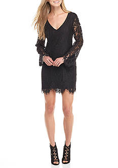 Trixxi All Over Lace Swing Dress